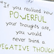 The power of our thoughts