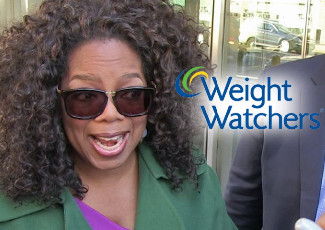 oprah winfrey loses weight watchers fortune