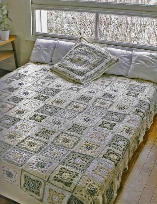 Delicate crochet blanket beautiful model elegant