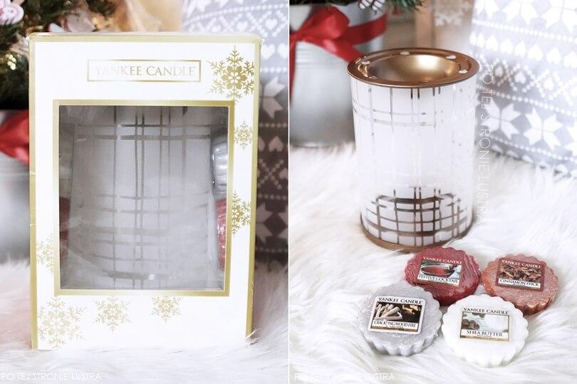zestaw prezentowy yankee candle z kominkiem i woskami