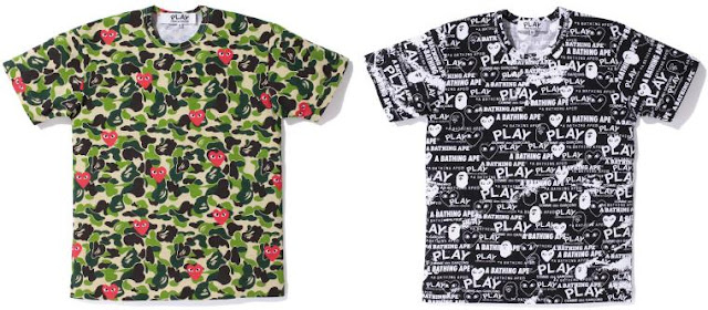 a120a787 doyouknowstyle?: Bape x PLAY Comme des Garcons