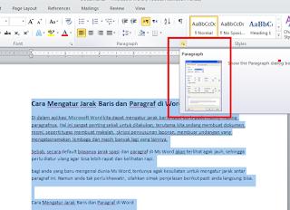 Cara Mengatur Jarak Baris dan Paragraf di Word