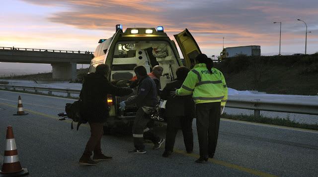 Τροχαίο ατύχημα με τραυματίες στην Εθνική Κορίνθου - Τριπόλεως στο ύψος της σήραγγας