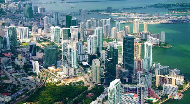 Miami em Janeiro - Vista aérea