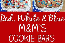 Red, White & Blue M&M'S Cookie Bars, 4th July Dessert Recipes
