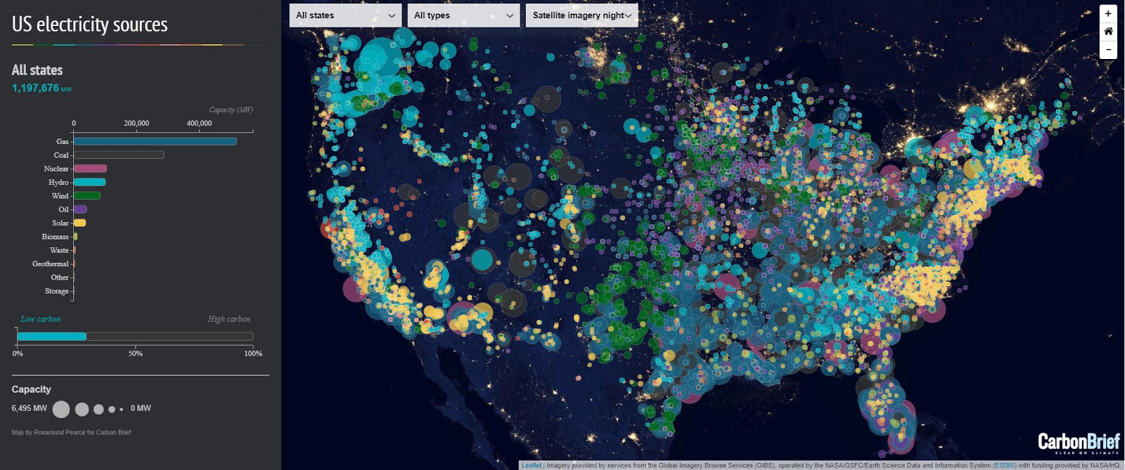 Interactive map: US electricity sources
