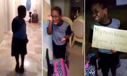 Mother sends her young son packing for voting for Donald Trump in school (Video)