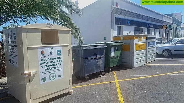 Villa de Mazo dispone ya de contenedores para ropa y calzado