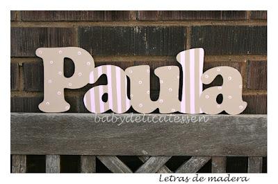letras de madera Paula