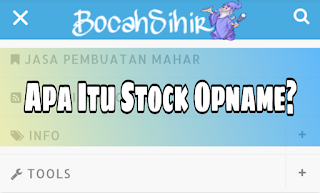 arti stock opname