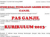 Soal Penilaian Akhir Semester (PAS) Ganjil Kelas 4 Kurikulum 2013 Lengkap Tema 1 sampai 5