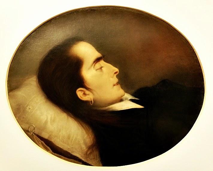 """Casa Victor Meirelles, em Florianópolis - Pintura em óleo sobre tela """"A Morta"""""""