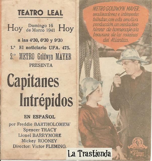 Programa de Cine - Capitanes Intrépidos (Doble) - Spencer Tracy - Freddie Bartholomew - Lionel Barrymore