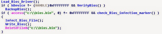 """Routine di infezione del BIOS di """"Mebromi"""""""