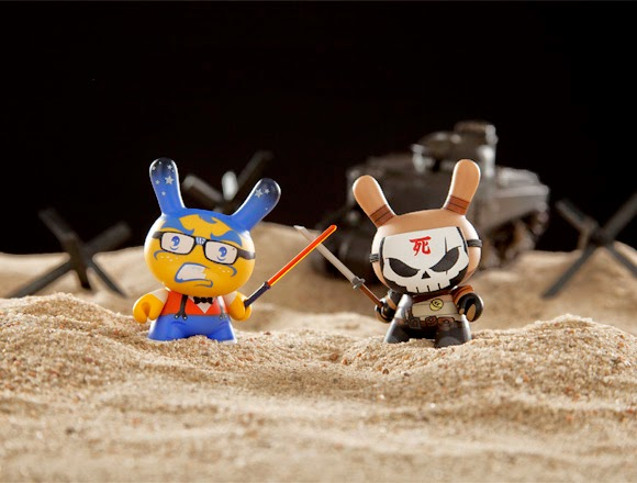 """Art of War"" Dunny 2014 Series by Kidrobot - Igor Ventura & Huck Gee"