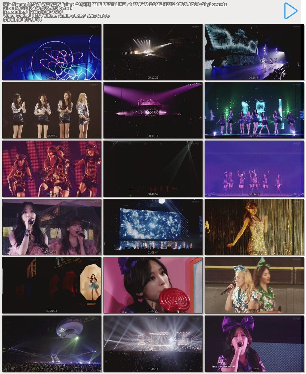 [Show] 141228 WOWOW SNSD THE BEST LIVE at TokyoDome