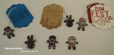 """Schrumpffiguren """"Ausgestochen weihnachtlich für weihnachtliche Etiketten von Stampin´ Up!"""