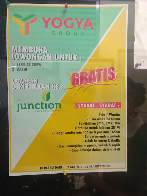 Lowongan Kerja Kasir Yogya Riau Junction Bandung