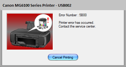 Canon MG6100 Error 5B00 [Solved] | Canon Printer ink absorber