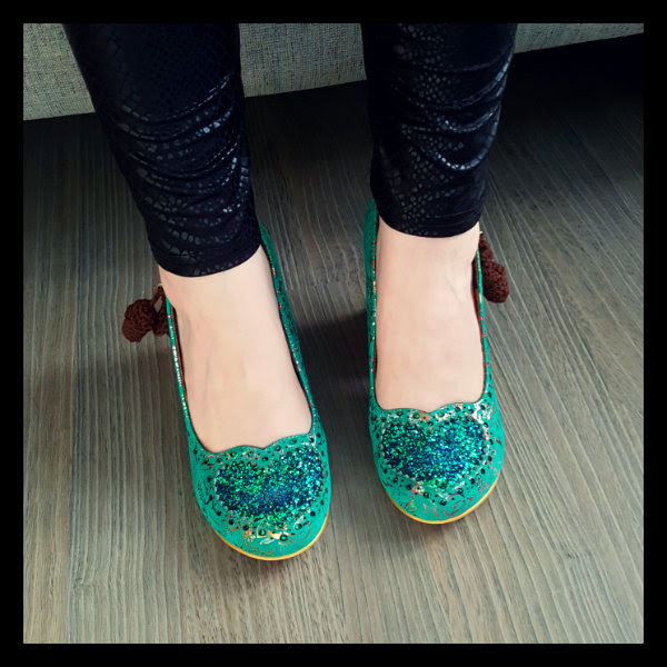 wearing irregular choice green nibbles mcnutty squirrel heels