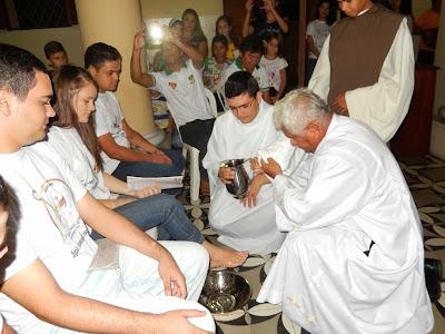 Resultado de imagem para fotos da cerimonia do lava-pes sao paulo do potengi