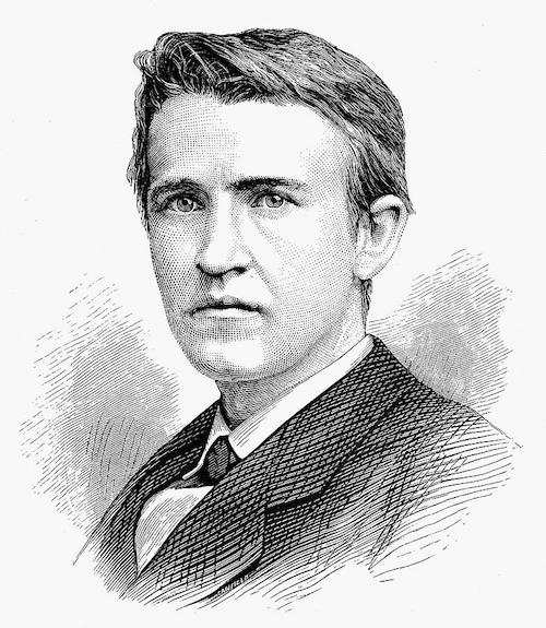 Thomas Edison autour de 1870.
