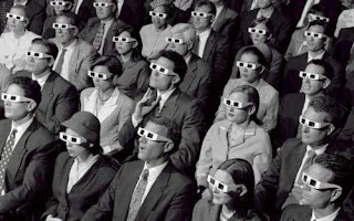 People watching 3D Cinema