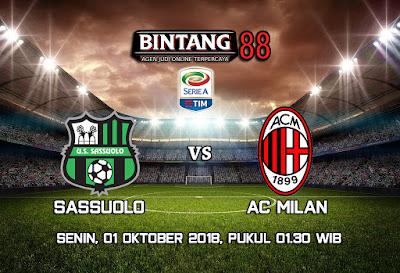 Prediksi Sassuolo vs AC Milan 1 Oktober 2018
