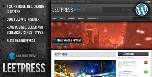 leetpress wordpress theme