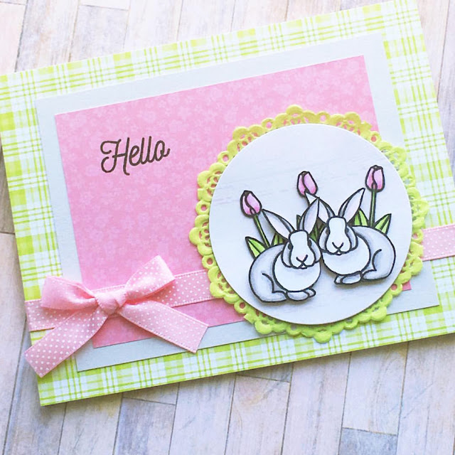 Sunny Studio Stamps: Easter Wishes Customer Card by Jenn