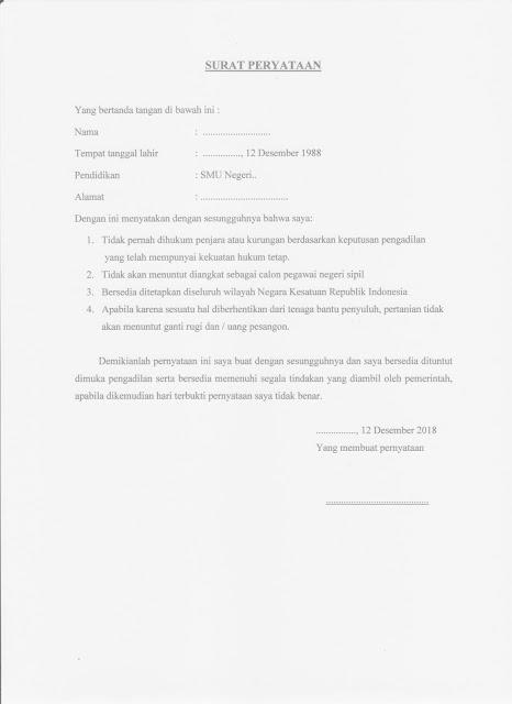 Contoh Surat Pernyataan Berkelakuan Baik Tenaga Penyuluh Pertanian