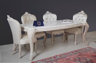 mebel jepara jati ukiran code 101,meja makan jati duco putih mewah set kursi 6,interior furniture klasik,furniture meja makan jati klasik ukiran duco putih