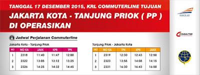 Jadwal KA KRL Commuter Line Rute Jakarta Kota Tanjung Priok