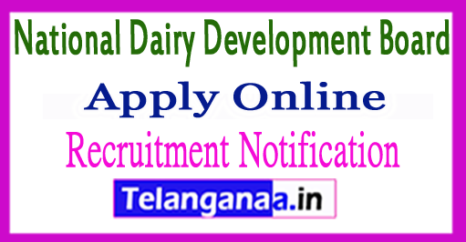 NDDB National Dairy Development Board Recruitment Notification 2017 Apply