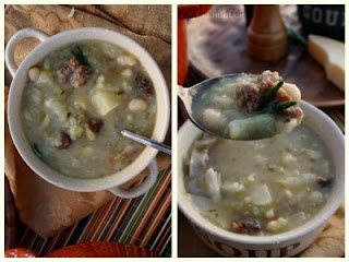 Cabbage and White Bean Soup with Italian Sausage