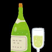 ワインのイラスト「スパークリングワイン」