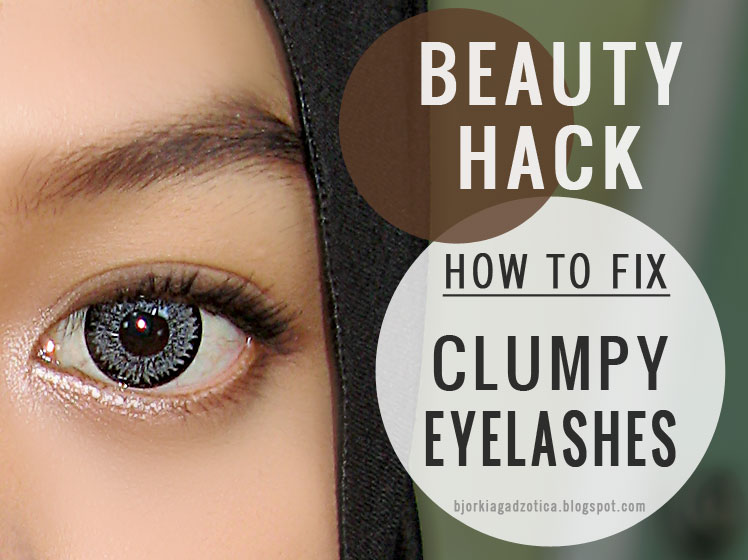 BEAUTY HACK How To Fix Clumpy Eyelashes