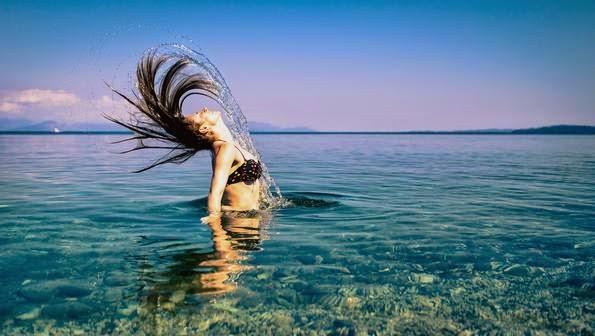 retrato con agua