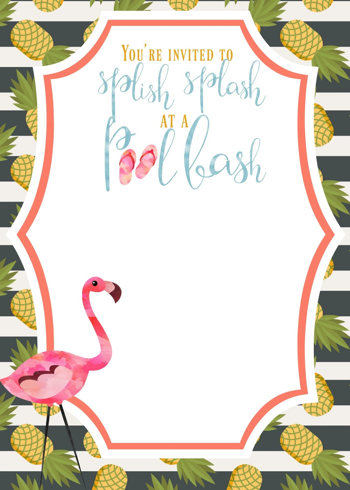 FREE! Tropical Party Printables! | Shipwrecked on Fabulous Island