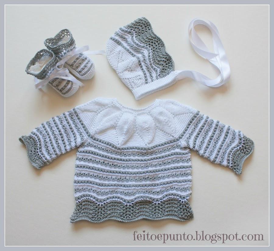 Conjunto gris y blanco