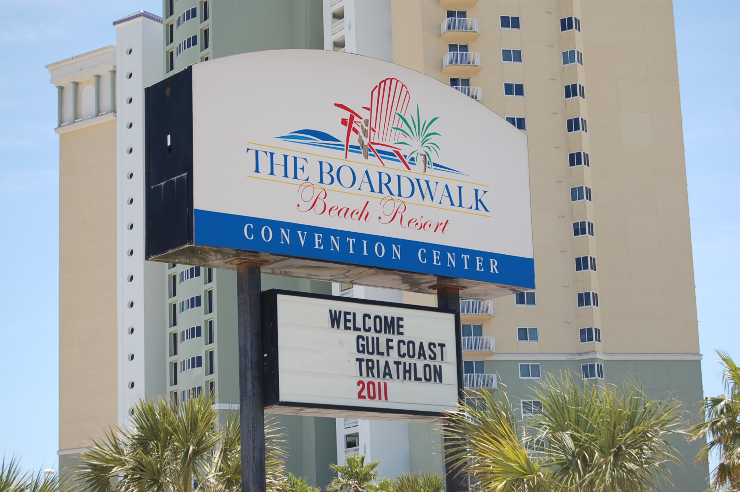 The Boardwalk Beach Resort In Panama City Florida With Adjacent Condos Background