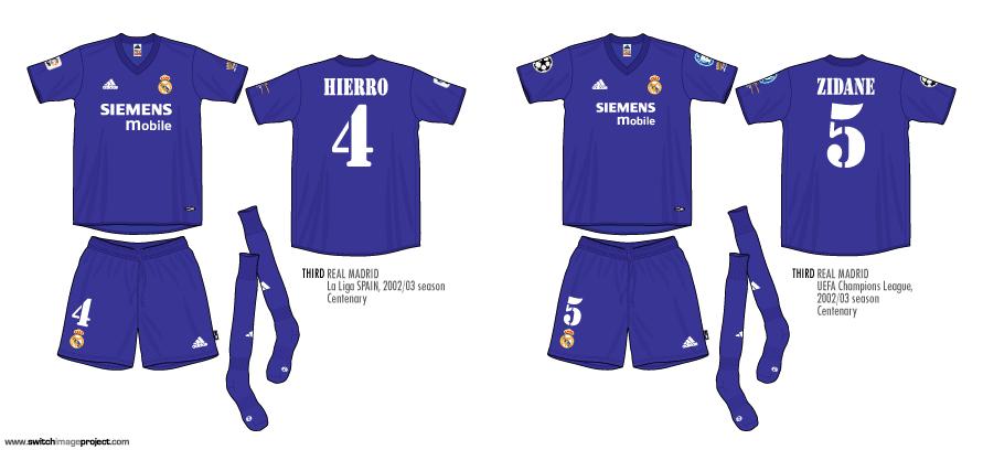 f59b3747e58 Football teams shirt and kits fan  Real Madrid 2002-03 purple kits