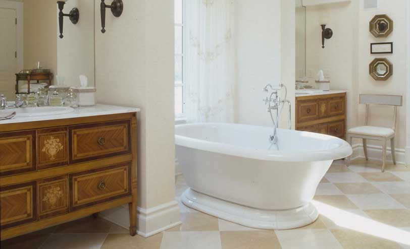 Furniture Each Create A Unique Look In Their Respective Bathroom