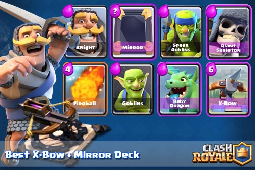 Strategi Deck X-Bow Mirror Arena 6 Clash Royale