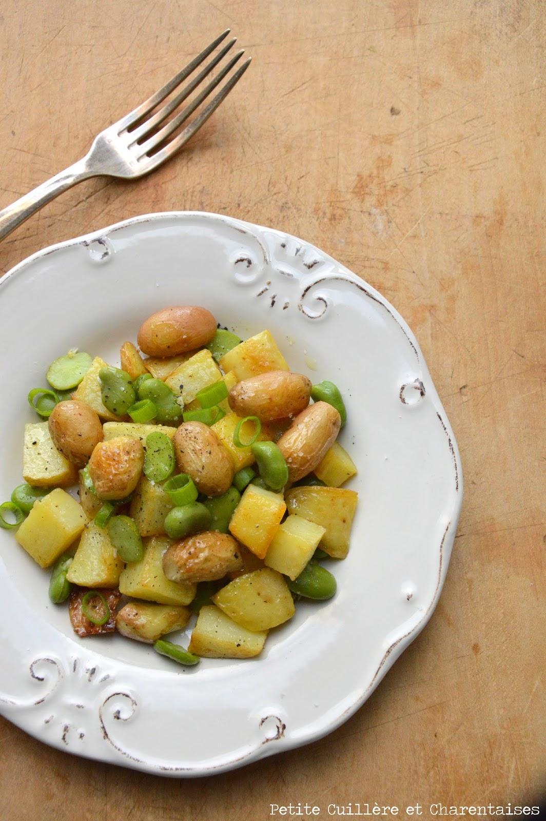 petite cuill re et charentaises salade de pommes de terres nouvelles aux f ves. Black Bedroom Furniture Sets. Home Design Ideas