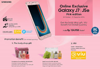 Promosi Samsung J5 (6) dan J7 (6) warna Pink