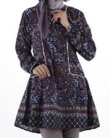 5 Contoh Desain Kemeja Batik Wanita Lengan Panjang Kombinasi