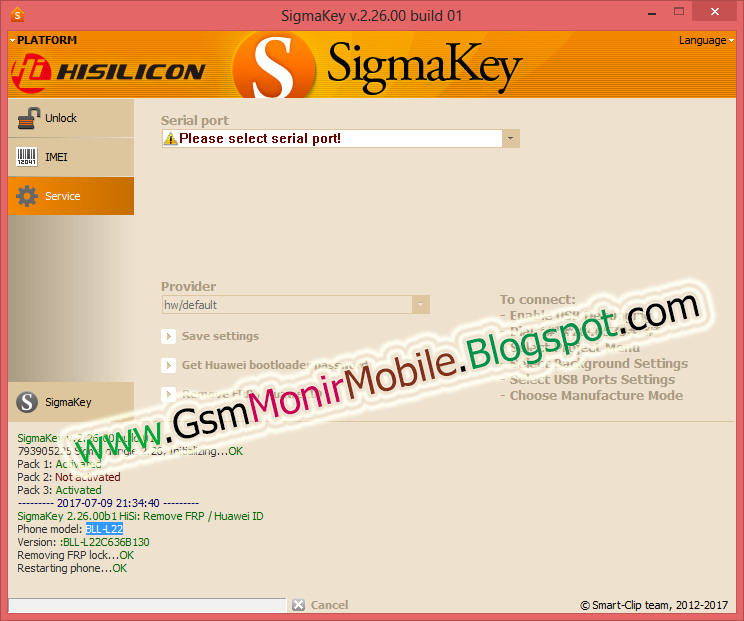 Sigmakey huawei gr5