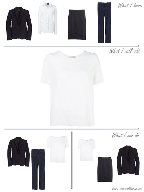 How to add a white silk top to a business capsule wardrobe
