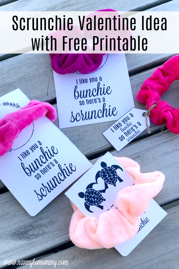 Scrunchie Trendy Valentine Idea